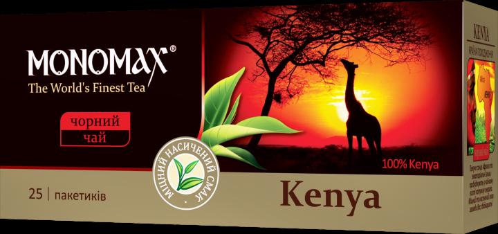 Черный чай без добавок и ароматизаторов Мономах Кения пакетированный 25*2 г