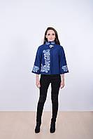 Стильное женское пальто кашемировое декорировано роскошной вышивкой