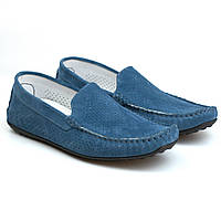 Синие мокасины замшевые перфорация обувь мужская летняя Rosso Avangard SE Alberto Blu Lagoon Vel Perf, фото 1