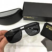 Мужские солнцезащитные очки авиаторы Porsche реплика Черные матовые, фото 1