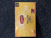 """Чай чорний Lipton """"Yelow Lebel"""" 50 пакетиків/ Чай чорний Липтон Єлов Лейбл 50 пакетиків"""