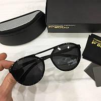 Мужские солнцезащитные очки авиаторы Porsche реплика Черные, фото 1