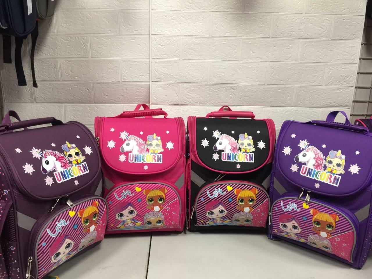 Рюкзак школьный каркасный (ортопедический) Love 1-3 класс размер 36х26х19 см