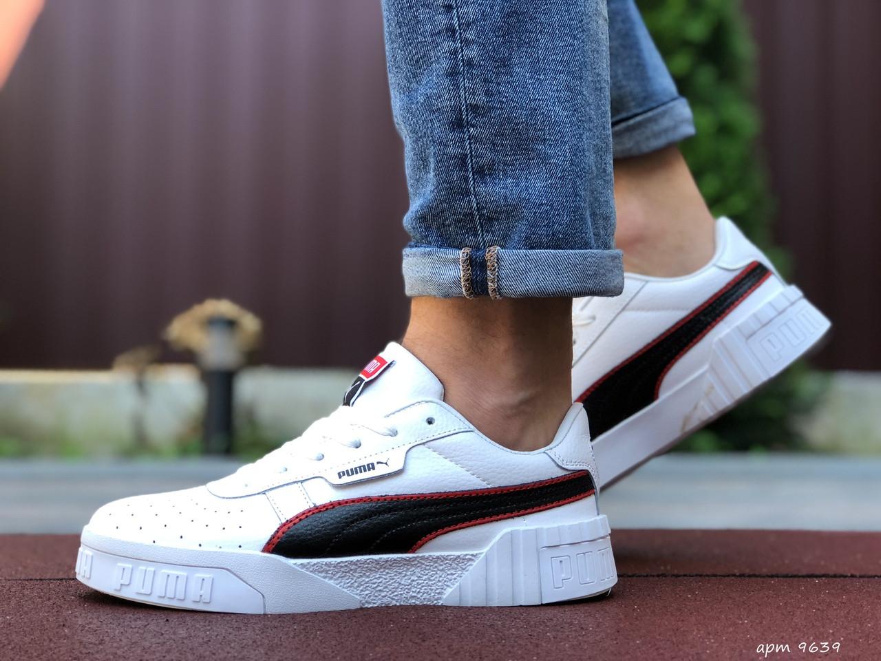 Мужские кроссовки Puma Cali Bold (бело-черные) 9639