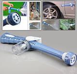 Распылитель воды, насадка на шланг, водяная пушка, водомет с отсеком для моющих средств Ez Jet Water Cannon, фото 4