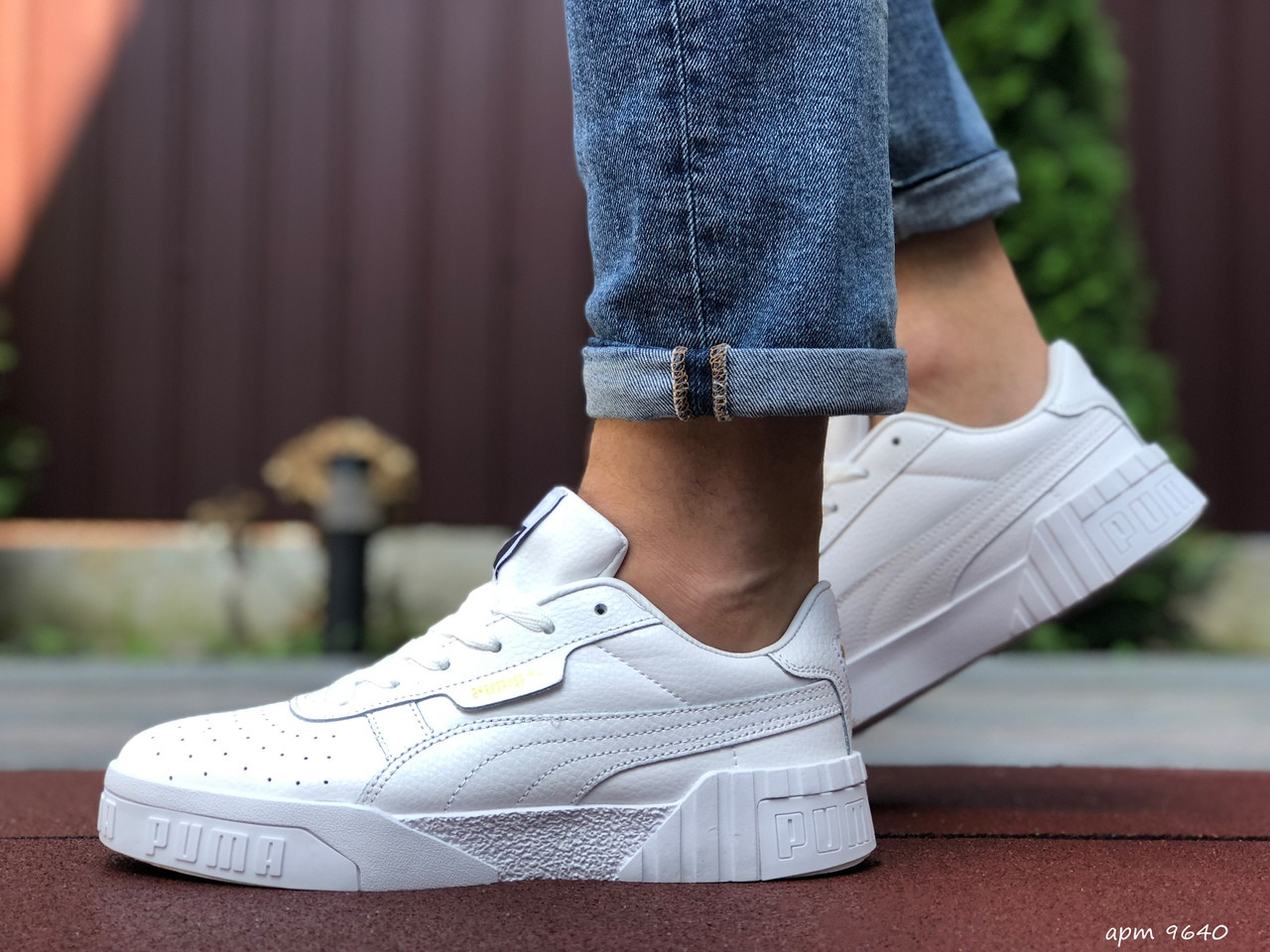 Мужские кроссовки Puma Cali Bold (белые) 9640