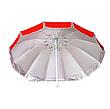 Зонт с клапаном , Серебряное напыление, защита от УФ лучей. Диаметром 2.25 м, фото 5