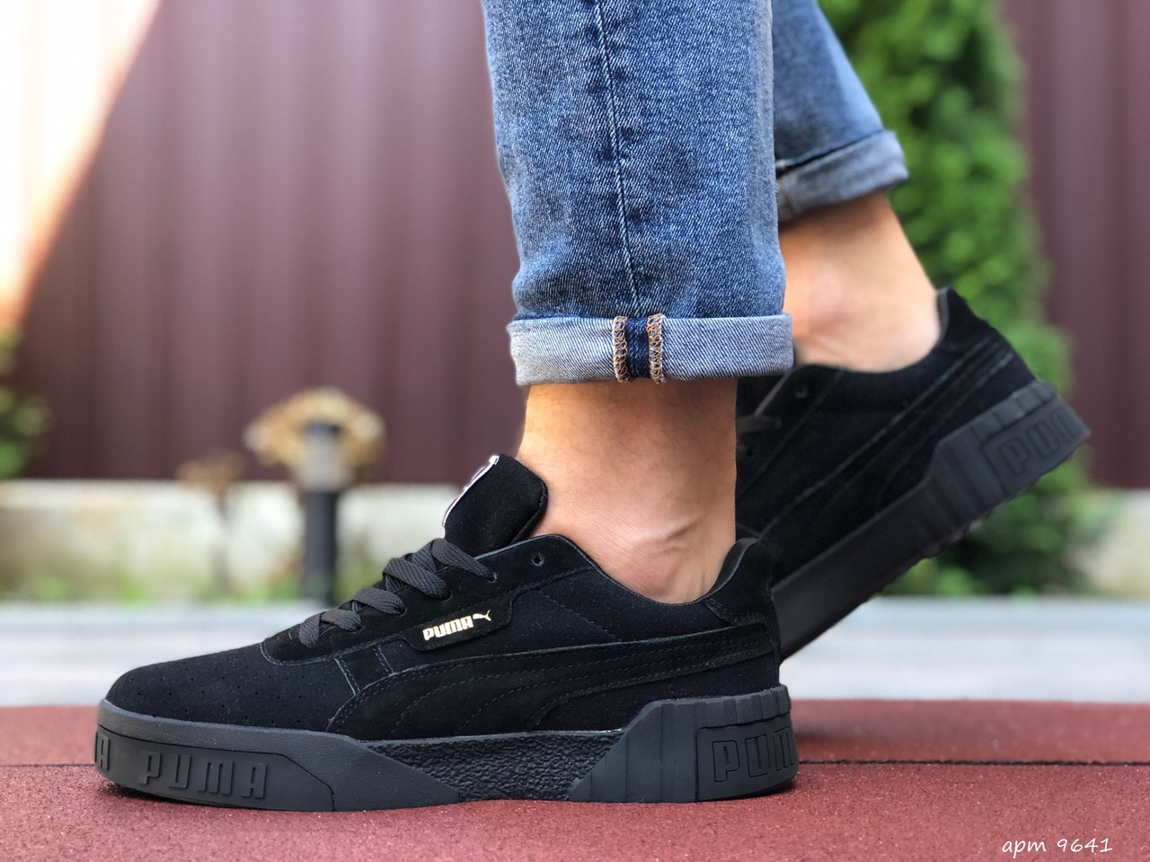 Мужские кроссовки Puma Cali Bold (черные) 9641