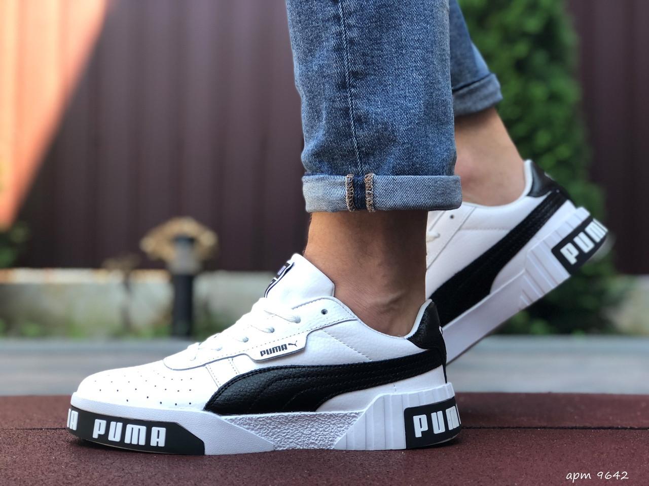 Мужские кроссовки Puma Cali Bold (бело-черные) 9642