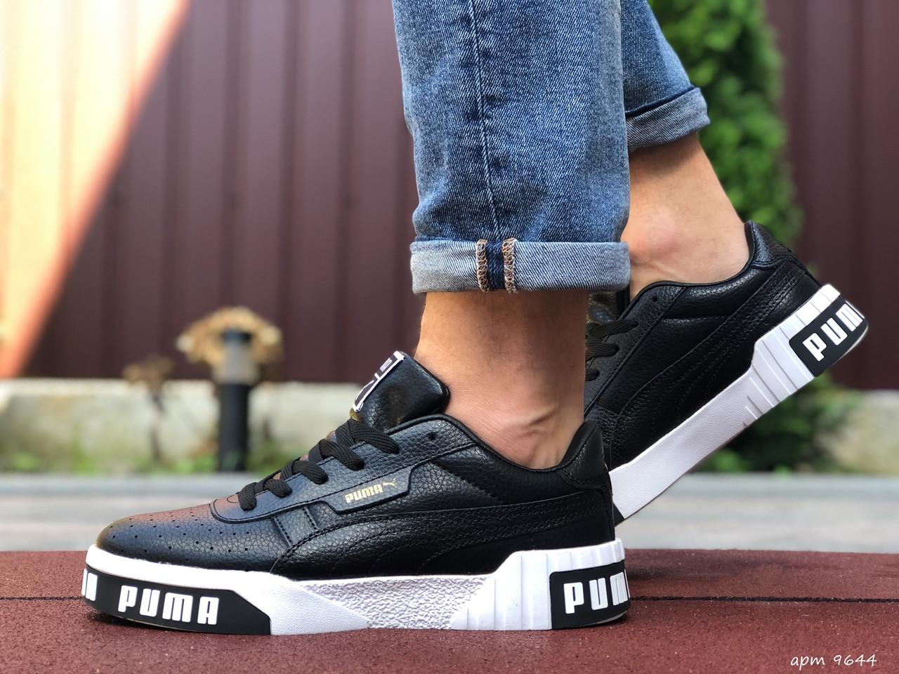 Мужские кроссовки Puma Cali Bold (черно-белые) 9644