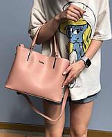 Женская сумка из экокожи Zara реплика Персиковая, фото 1