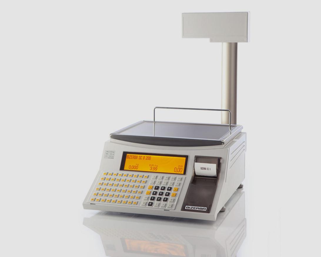 Весы с печатью этикетки Bizerba SC II 200 (со стойкой) б/у
