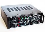 Профессиональный усилитель звука UKC AV-329BT Караоке 4 микрофона, фото 2