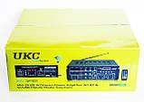 Профессиональный усилитель звука UKC AV-329BT Караоке 4 микрофона, фото 5