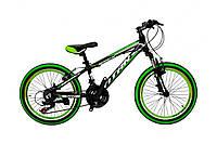 """Велосипед Titan Space 20""""10"""" Чорний-Зелений-Білий"""