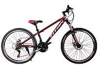 """Велосипед Titan Infinity 26""""15"""" Чёрный-Красный-Белый"""