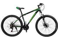 "Велосипед Cross Leader 27,5"" 17"" black-darkgreen-green"