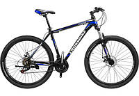 "Велосипед Cross Leader 27,5"" 19,5"" black-blue-white"