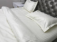 Евро Макси комплект постельного белья Страйп Сатин IMAN (100% хлопок) 1 наволочка  Постільна білизна