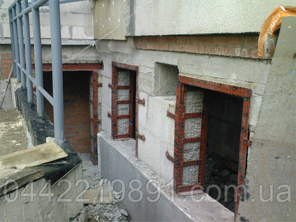 Алмазная резка проемов под окна