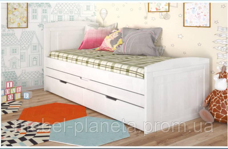"""Дитяче ліжко з натурального дерева """"Компакт"""" Арбор"""