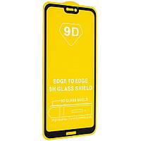 Защитное стекло Huawei P20 Lite/ Nova 3e Full Glue 9D черное