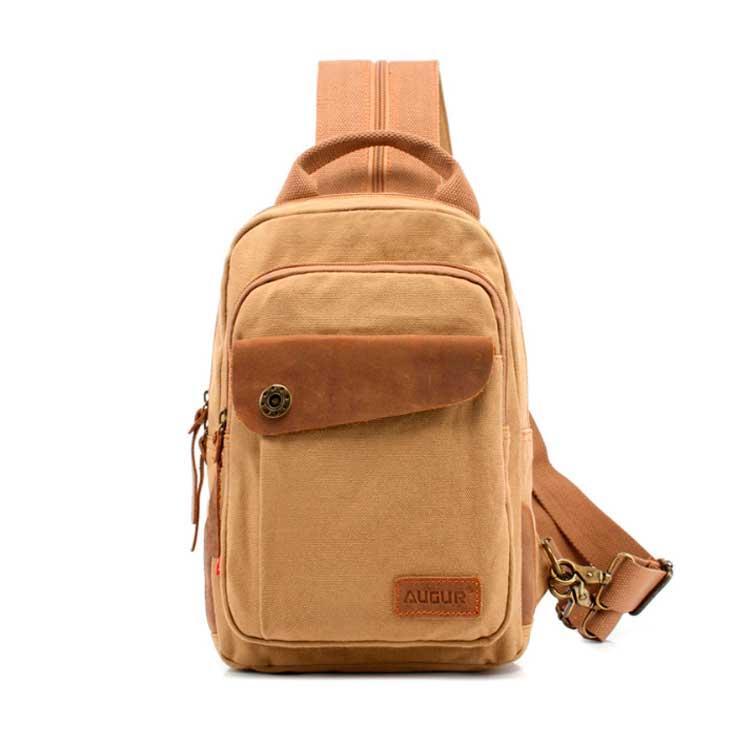 Рюкзак на одно плечо Augur бежевый