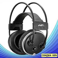 Наушники беспроводные MDR NIA S1000 Bluetooth наушники гарнитура с микрофоном и FM радио + AUX ZK, фото 1