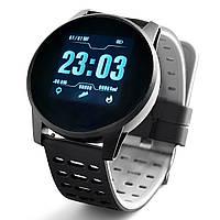 Смарт-часы Reaf GPS Black водонепроницаемые. Smart Watch. Смарт часы.  Подарок для парня. Подарок для мужчины