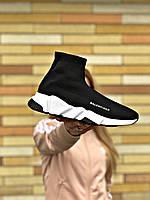Кроссовки женские Balenciaga Trainer черные, Баленсиага Трейнер, дышащий материал, прошиты. Код Z-3065