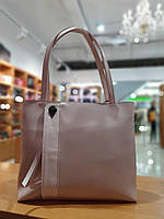 Жіноча сумка з якісної екошкіри , 35-28-11 см , колір рожевий