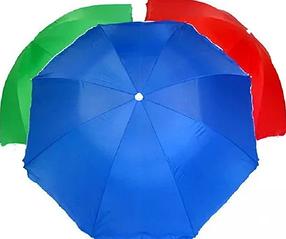 Пляжный зонт однотонный  2.50 м с клапаном пластиковые спицы