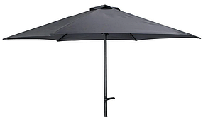 Зонт садово пляжный черный 250см (рукоятка, Вентиляция, водостойкий)