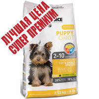 Корм для щенков мелких пород 1st Choice Puppy Toy & Small Breeds 350 гр.
