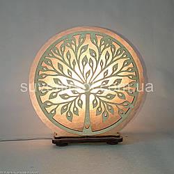 Соляной светильник круглый Дерево 2