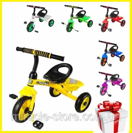 Трехколесный детский велосипед с корзиной Tilly Trike  (6 видов)