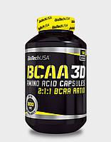 Уценка (Срок годности до 16.08.20) BioTech USA BCAA 3D 180 cap