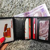 Кожаный черный картхолдер кредитница, кожаная обложка на права id