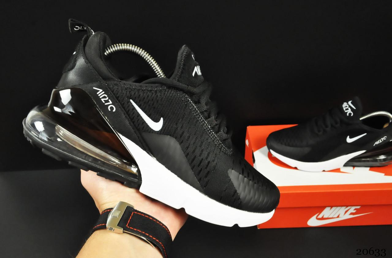 Кроссовки Nike Air Max 270 арт 20633 (женские, черные, найк)