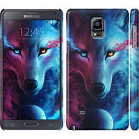 Чехол на Samsung Galaxy Note 4 N910H Арт-волк (3999c-64) - Чехлы для Самсунг Galaxy Note 4 N910H