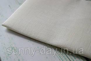 Тканина рівномірного плетіння льон Permin 076/00 колір білий, 28 каунт