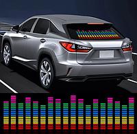Светодиодный эквалайзер на заднее стекло автомобиля с автоматической подстройкой под ритм музыки 20*25см