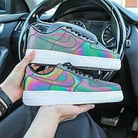 Стильные рефлективные женские кроссовки Nike Air Force reflective Найк Аир Форс Рефлектив