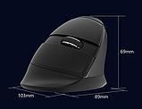 Бездротова вертикальна миша Delux M618 Mini GX / Рожевий колір, фото 5