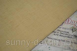 Тканина рівномірного плетіння льон Permin 076/21 колір Sandstone, 28 каунт