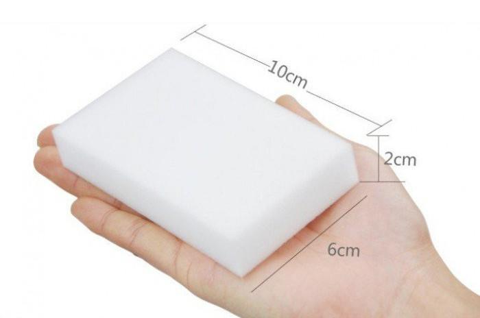 Меламиновая губка 10 х 6 х 2 см Белый