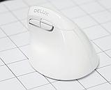 Бездротова вертикальна миша Delux M618 Mini GX Білий, фото 3