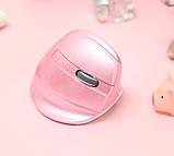 Бездротова вертикальна миша Delux M618 Mini GX Pink, фото 4