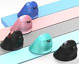 Бездротова вертикальна миша Delux M618 Mini GX Pink, фото 3