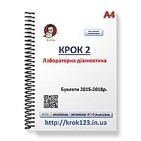 Крок 2. Лабораторная диагностика. Буклеты 2015-2018 . Для украинцев украиноязычных. Формат А4